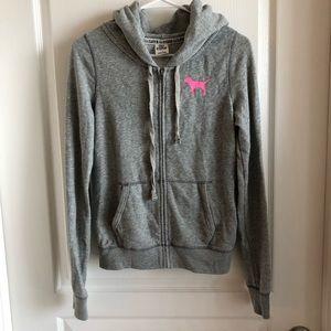 VS pink- Grey Zip Hoodie